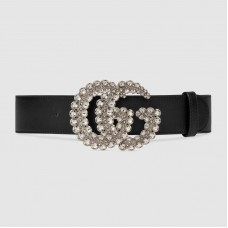 Gucci Leather belt with Double G buckle 582100