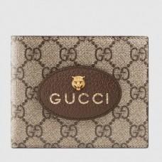 Gucci Neo Vintage GG Supreme Wallet 473954 Brown