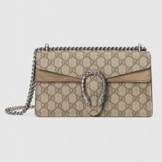 Gucci Taupe Dionysus GG Supreme Small Bag