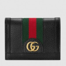 Gucci Web Ophidia Card Case Wallet 523155 Leather Black 2019