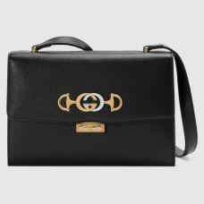 Gucci Zumi Grainy Leather Small Shoulder Bag 576338 Black 2019