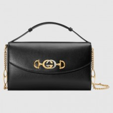 Gucci Zumi grainy leather small shoulder bag 576388 black