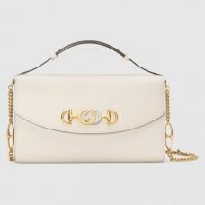 Gucci Zumi grainy leather small shoulder bag 576388 white