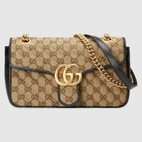 Gucci GG Marmont Small Bag In Beige GG Canvas