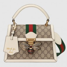 gucci Queen Margaret small GG top handle bag 476541 white