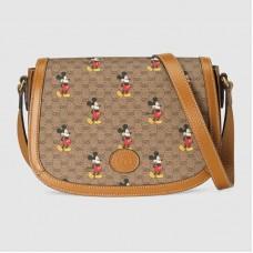 Gucci 602694 Disney x Gucci small shoulder bag in Beige/ebony mini GG Supreme canvas