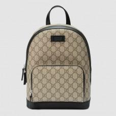 Gucci Beige GG Supreme Small Backpack