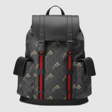 Gucci Black Soft GG Supreme Tigers Backpack