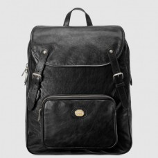 Gucci Medium Backpack In Black Soft Leather