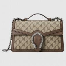 Gucci Dionysus Top Handle Bag In GG Supreme Canvas