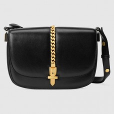 Gucci Sylvie 1969 Small Shoulder Bag In Black Calfskin