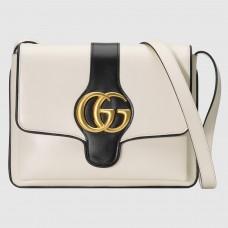 Gucci Arli Medium Shoulder Bag In White Leather