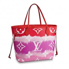 Louis Vuitton Monogram Giant Canvas LV Escale Neverfull MM Tote Bag M45127 Rouge Red
