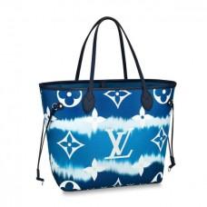 Louis Vuitton Monogram Giant Canvas LV Escale Neverfull MM Tote Bag M45128 Bleu