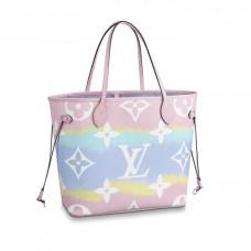 Louis Vuitton Monogram Giant Canvas LV Escale Neverfull MM Tote Bag M45270 Pastel Pink
