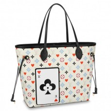 Louis Vuitton Game On Neverfull MM White Bag M57462
