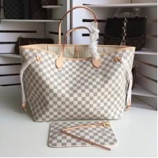Louis Vuittom damier azur Canvas Neverfull GM Bag N41360