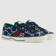 Gucci Men's Tennis 1977 Sneakers In Blue Cotton