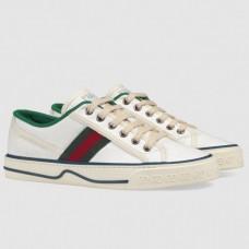 Gucci Women's Tennis 1977 Sneakers In White GG Fabric