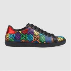 Gucci Women's GG Psychedelic Ace sneaker Black leather trim