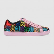 Gucci Women's GG Psychedelic Ace sneaker Pink leather trim