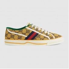 Gucci Men's Tennis 1977 GG Multicolor Yellow and blue GG canvas sneaker