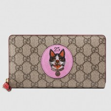Gucci GG Supreme Zip Around Wallet With Bosco Patch