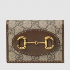 Gucci Horsebit 1955 Brown Card Case Wallet