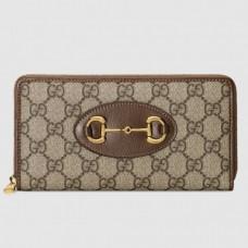 Gucci Horsebit 1955 Brown Zip Around Wallet