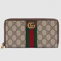 Gucci Ophidia Zip Around Wallet With Three Little Pigs