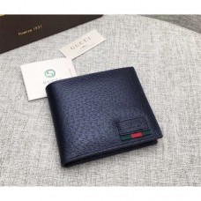 Gucci Leather bi-fold wallet with web 428749
